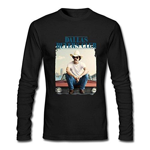 IIOPLO Men's Dallas Buyers Club Long Sleeve T-shirt Black XXXL