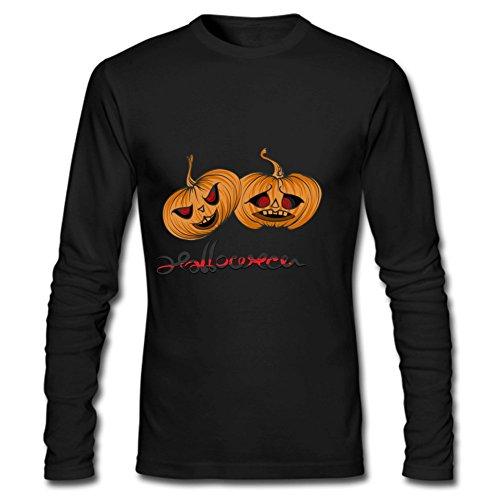 [Dark PumpkinMens Long Sleeve Easy Halloween Costume Fun T-Shirt XL Black] (Nerd Costume Offensive)