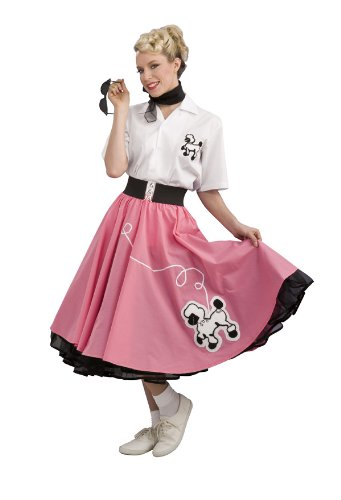 1950's Costumes For Adults - Rubie's Costume 1950'S Poodle Skirt, Pink, Large Costume