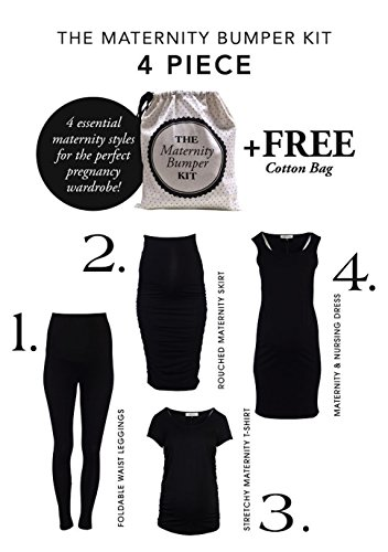 Angel Maternity Bumper Kit: Maternity Clothing That Grows with Your Baby Bump 4-Piece Pregnancy Clothing Set