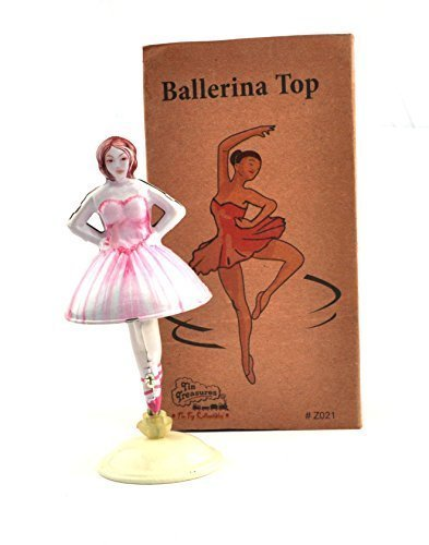 Karmakara Tin Toys Lady Ballerina Top Collectible Welby Treasures Replica India Windup
