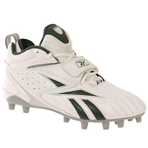 Reebok Pro Full Blitz Sangle Mp Chaussures De Football Pour Hommes Blanc Vert Argent 11 M