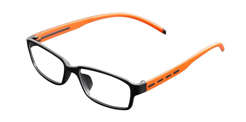 De Ding Unisex Fashion Tr90 Clear Lens Eyewear Eye Glasses Frames Matt Black Orange
