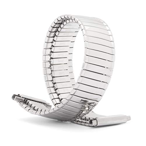 Speidel Ladies Twist-O-Flex Expansion Replacement Watch Band Silver Tone Straight End 14-18mm ()