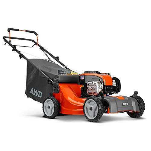 Husqvarna LC221A Lawn Mowers, Orange/Gray