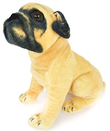 VIAHART Puck the Pug | 15 Inch Large Dog Stuffed Animal Plush Dog | By Tiger Tale Toys (Dog Pug Toy)
