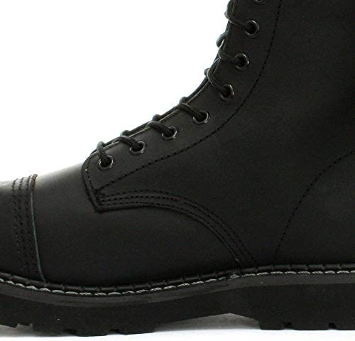 Grinders Men's Leather Bulldog CS Derby Black Lace Up Safety Steel Toe Cap Boots
