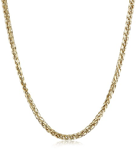 14k-Yellow-Gold-Italian-3mm-Hollow-Wheat-Chain-Necklace-22