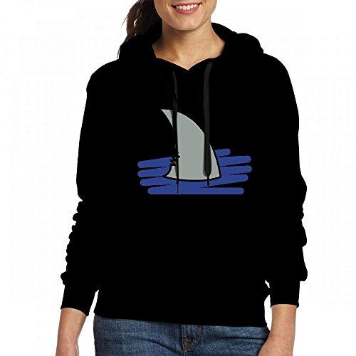 Womens T-shirts Personnalisés Hoodies Requin Sweat Noir Sweat Fintor