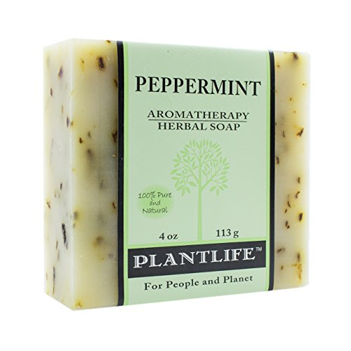 Peppermint 100% Pure & Natural Aromatherapy Herbal Soap- 4 oz (113g)