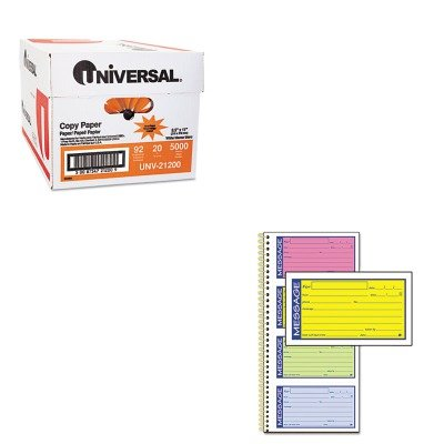 KITABFSC1153RBUNV21200 - Value Kit - Adams Wirebound Telephone Message Book (ABFSC1153RB) and Universal Copy Paper (UNV21200)
