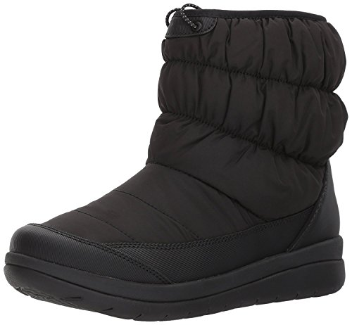 CLARKS Women's Cabrini Bay Snow Boot, Black, 9 M US