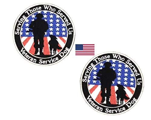 Service Dog Patch for Dogs. Certified Service Dog DO NOT PET Removable Patch for Service Dog Harnesses & Vests. Service Dog Patch for Dogs (2 Pack, Veterans)