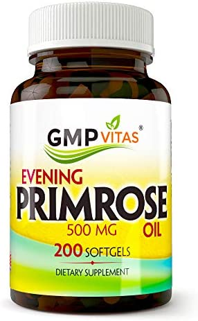 GMPVitas Evening Primrose Oil-Maintain Smooth-Healthy Looking Skin-Supports hormonal Balance-Supports hormonal Balance 1