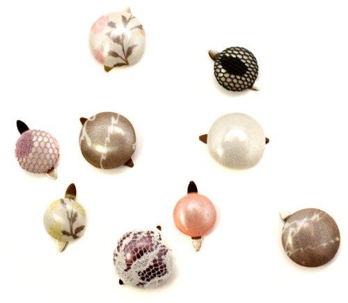 Laliberi Julie Comstock Fabric Button Brads, Light