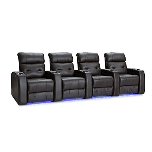 (Palliser Mirage Leather Home Theater Seating Power Recline - (Row of 4,)
