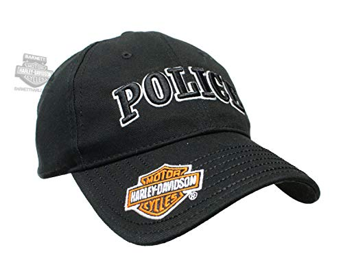 Harley-Davidson Mens Police 3D Embroidered Black Cotton for sale  Delivered anywhere in USA
