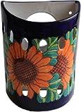 Sunflower Talavera Ceramic Sconce