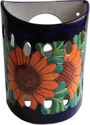 (Fine Crafts Imports Sunflower Talavera Ceramic Sconce)