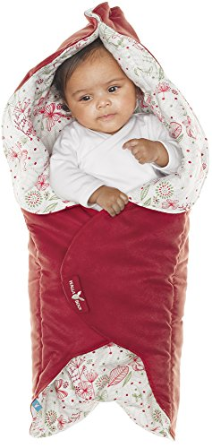 Wallaboo Baby Blanket Leaf, Soft Blanket, Newborn and Up, Durable faux Suede and 100% Pure Cotton with Print, Red -  WWC.0609.1201