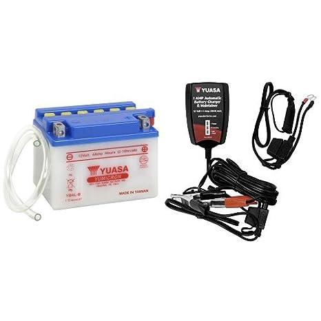 Amazon.com: Yuasa YUAM224LB - Batería YB4L-B, batería con ...