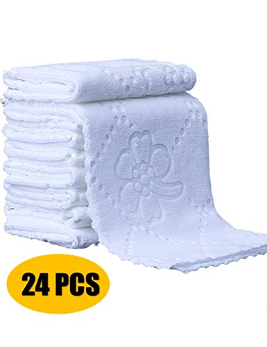 Eucoz Microfiber Cleaning Polishing Cloths 24 Pack Dish Cloth Kitchen Bar Mops Towels Cloth Napkins Bar Rags Guest Hand Towels for Home Bathroom Hotel Restaurant Beauty Salon 10