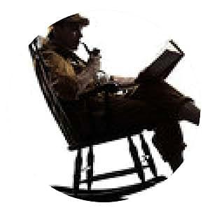 alfombrilla de ratón Sherlock Holmes silueta de la lectura - ronda - 20cm