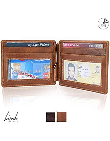 e18c25d0ab4b Bi-Fold Hunter leather wallet with money clip   RFID protection