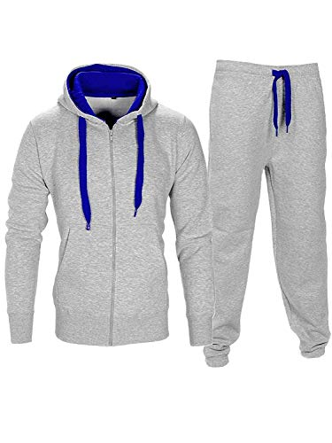À S bleu Homme M Corde Contraste Survêtement L Taille Capuche Xl Pantalon Gris Gym Sweat Noroze qSZIZx