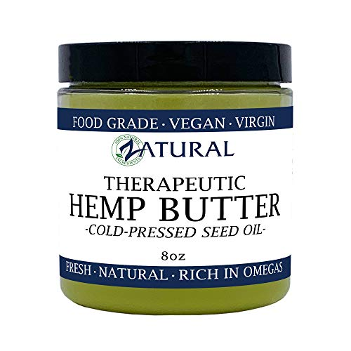 (HEMP BUTTER | 100% All Natural Hemp Butter - Handcrafted - Assist with Pain, Stress, and more - Food Grade - vegan (8 Ounce))