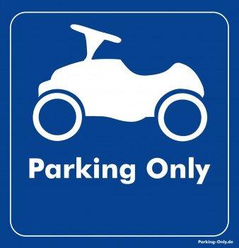 Parking Only Aufkleber BOBBY-Car