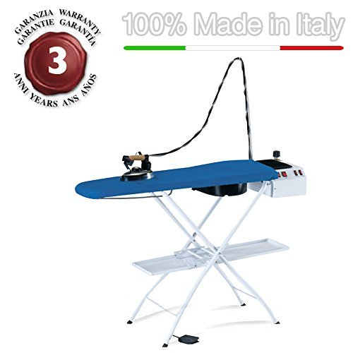 EOLO ironing board with boiler to energy saving, anti-scale resistor and professional electric iron AS07 Pro1 110-120 Volts by EOLO H&P