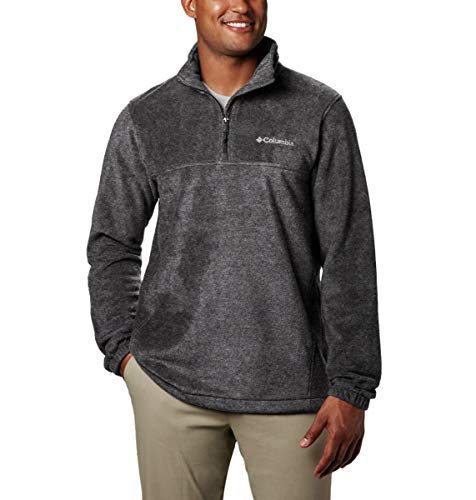 Columbia Men's Steens Mountain Half Zip Soft Fleece Jacket, Charcoal Heather, Large
