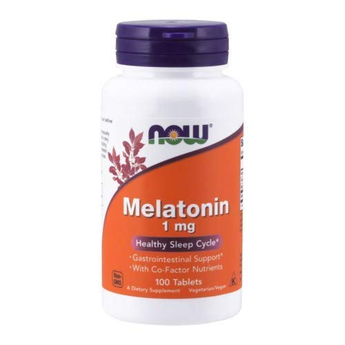 MELATONIN, 1 mg, Tr Complex 100 Tabs by Now Foods (Pack of - Two Melatonin Stage