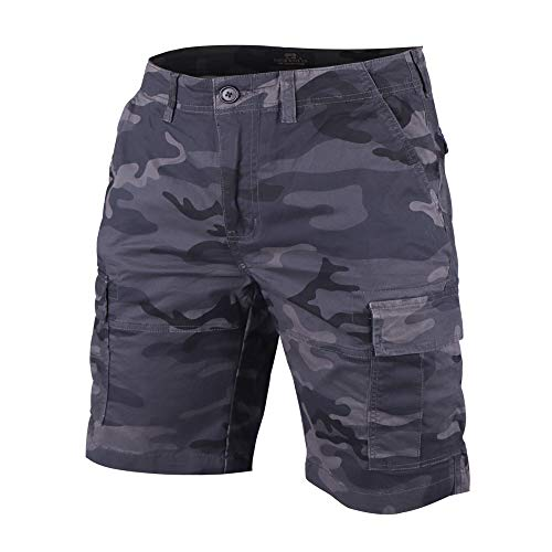 Men's Cargo Shorts Slim Fit Camouflage Vintage 100% Cotton Medium-Weight