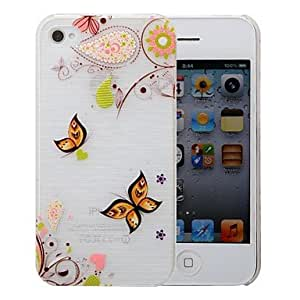 SHOUJIKE Multi-color Pattern PC Brushed Case for iPhone 4/4s