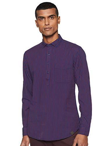 John Players Men #39;s Striped Slim fit Casual Shirt