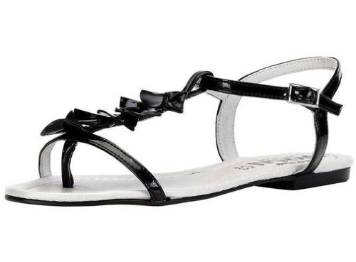 CHILLANY Lack-Sandale Zehen-Sandale schwarz Schwarz