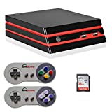 2018 HDMI/AV Retro Video Game Console 16 GB SD, 1000 Games built-in, 2x SNES Controllers (RS-93)