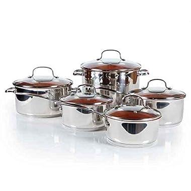 Nuwave Duralon™ Ceramic Non-stick Cookware 10-piece Set with Lids