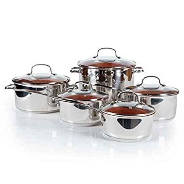 NuWave PerfectGreen 10 Pc Cookware Set (Bronze)
