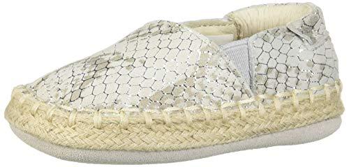 Robeez Girls' Espadrille-First Kicks Crib Shoe, Shimmer, 12-18 Months (Natural Footwear Snake)