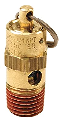 Control Devices ST25-1A300 ST Series Brass Soft Seat ASME Safety Valve, 300 psi Set Pressure, 1/4 Male NPT from Control Devices