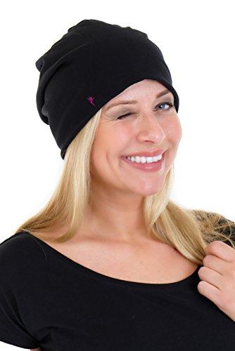 Invierno Ni Bonnet 3elfen os Mujeres Jersey Negro Para Little o Rosa Oto Short Beanie Cotton Fairy wOOdrq1z