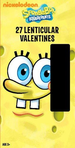 paper magic deluxe lenticular 3d valentine spongebob exchange cards 27 count - Spongebob Valentine Cards