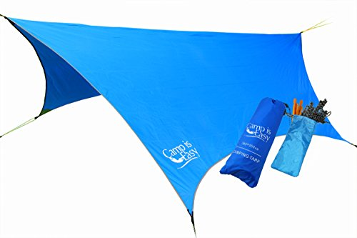 Waterproof Rip Resistant Camping Tarp For Any weather. Perfect Tent cover Or Hammock Rain Fly. Use...