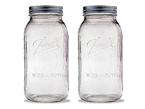 1 Ball 2 Quart Wide Mouth Canning Jar, Pack of (2 Quart Ball)
