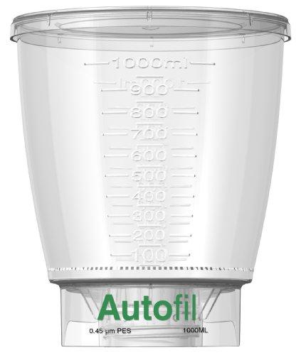 Autofil Sterile Disposable Vacuum Bottle Top Filters with 0.45um PES Membrane for Prefiltration or Clarification, 1000mL, 24/CS by Foxx Life Sciences