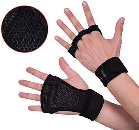 AMAZACER ワークアウトグローブ - カルスを避けるために、シリコーンパディング - - フィットネスのための手首のサポート、ジム・クロストレーニングと重量挙げ手袋スーツ男性&女性とも、強力なグリップ (Size : L)