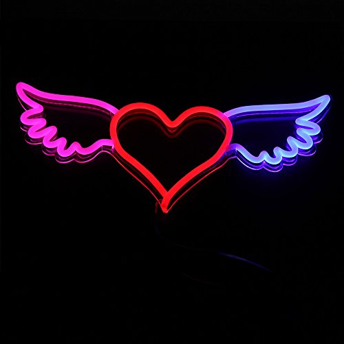 DIY Neon Sign Light Modern Home Wall Trends Décor Yolo Sign To Light up Your Space With Neon Signs Customizable for Kids Bedroom, Living Room Bright Themes Image (Angel Wings Heart Neon (Where To Buy Angel Wings)